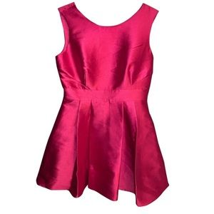 Kate Spade Pink Open Back Silk with Bow Dress L/12